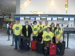 Youth and Mentors in SMF Airport Ready for Boston